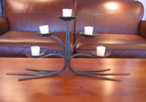 Forged Metal Candelabra