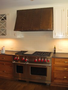 Custom Bronze Hood Kitchen