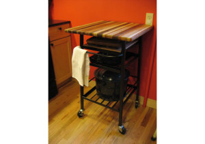Custom_Metal_Rolling_Kitchen_Table